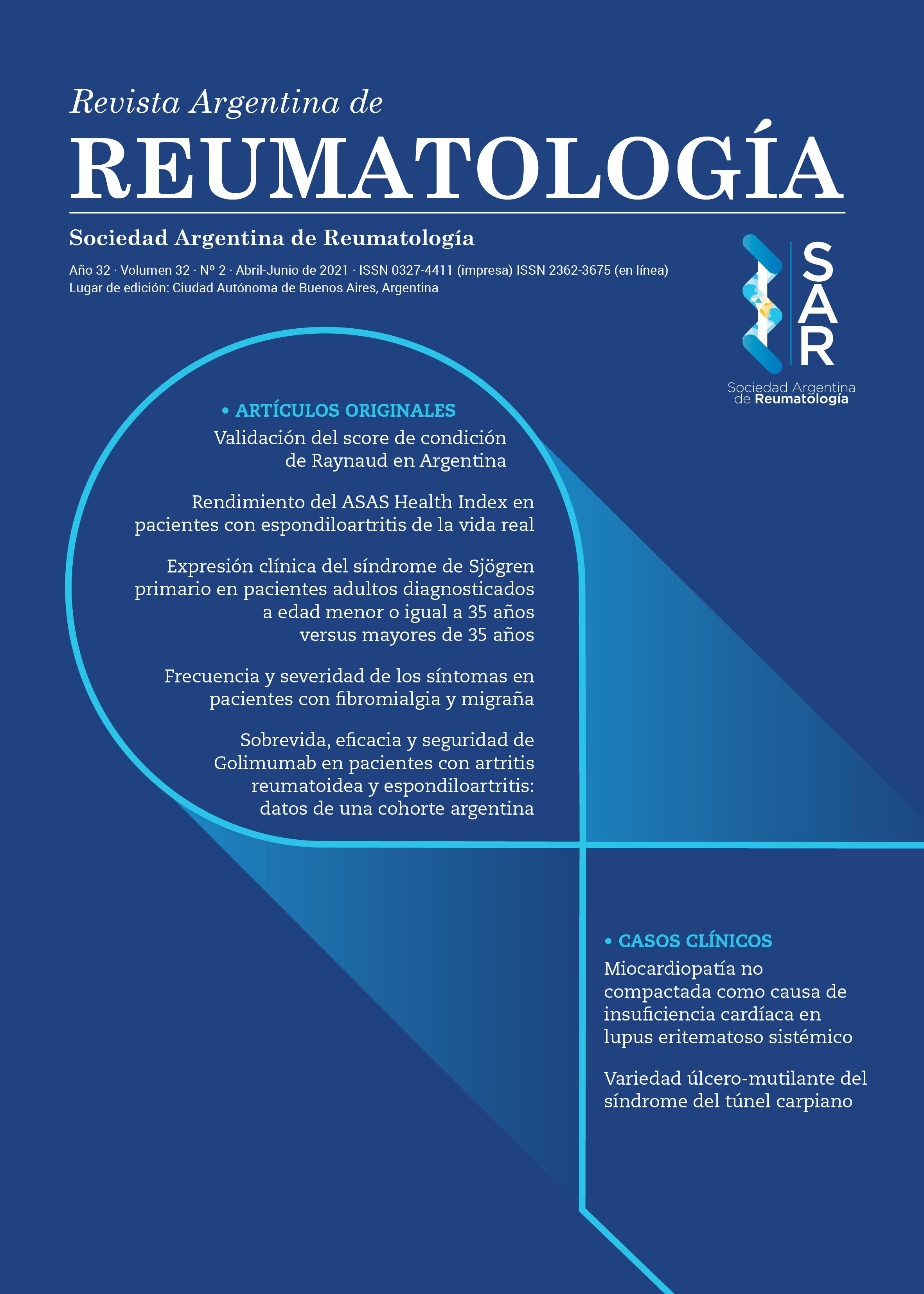 Revista Argentina de Reumatología Nº 2 de 2021