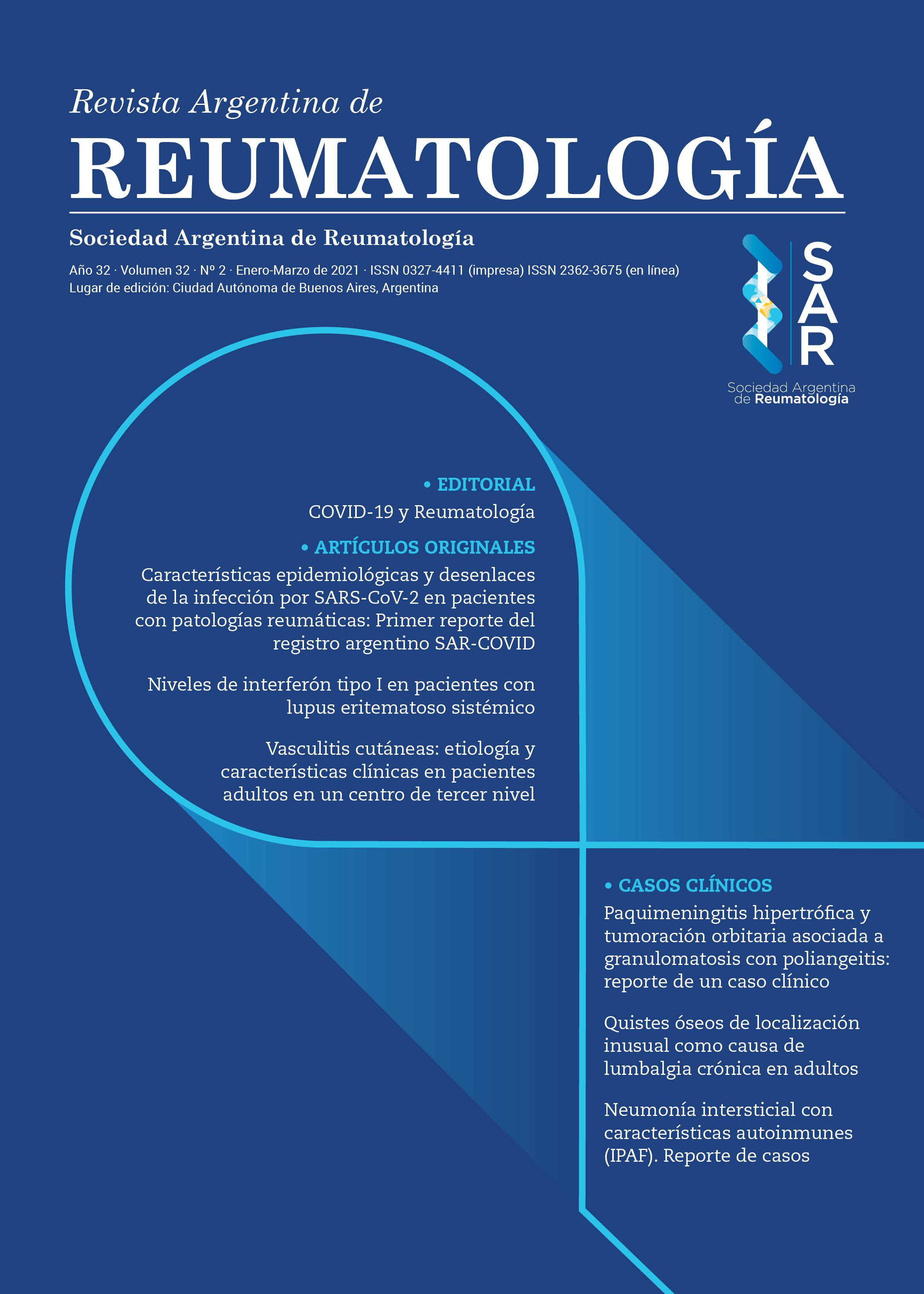 Revista Argentina de Reumatología Nº 1 de 2021